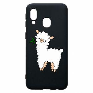 Etui na Samsung A40 Lamb with a sprig