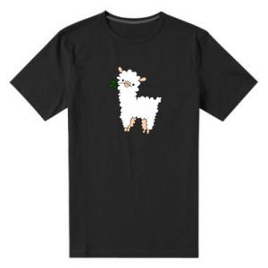 Men's premium t-shirt Lamb with a sprig - PrintSalon