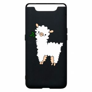 Phone case for Samsung A80 Lamb with a sprig - PrintSalon