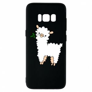 Phone case for Samsung S8 Lamb with a sprig - PrintSalon