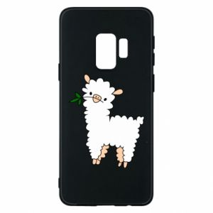 Phone case for Samsung S9 Lamb with a sprig - PrintSalon