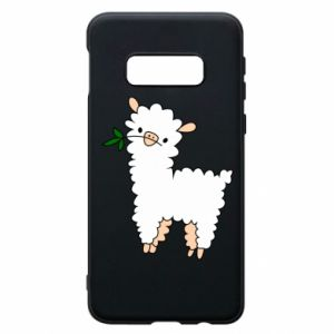Phone case for Samsung S10e Lamb with a sprig - PrintSalon