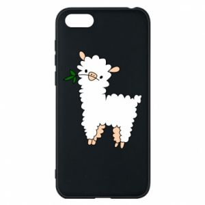 Phone case for Huawei Y5 2018 Lamb with a sprig - PrintSalon