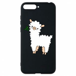 Phone case for Huawei Y6 2018 Lamb with a sprig - PrintSalon