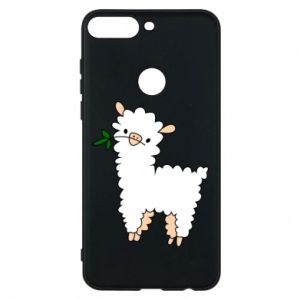 Phone case for Huawei Y7 Prime 2018 Lamb with a sprig - PrintSalon