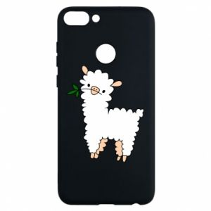 Phone case for Huawei P Smart Lamb with a sprig - PrintSalon