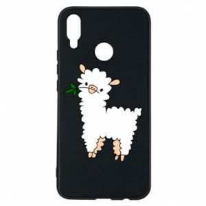 Phone case for Huawei P Smart Plus Lamb with a sprig