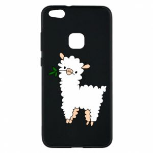Phone case for Huawei P10 Lite Lamb with a sprig - PrintSalon