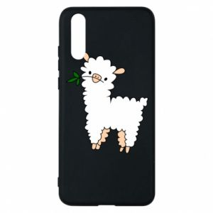 Phone case for Huawei P20 Lamb with a sprig - PrintSalon