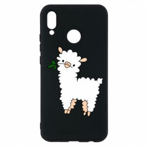 Phone case for Huawei P20 Lite Lamb with a sprig - PrintSalon