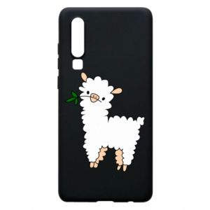 Phone case for Huawei P30 Lamb with a sprig - PrintSalon