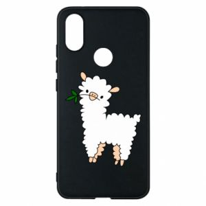 Phone case for Xiaomi Mi A2 Lamb with a sprig - PrintSalon