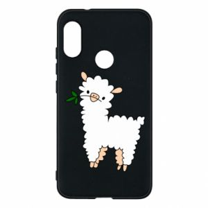 Phone case for Mi A2 Lite Lamb with a sprig - PrintSalon