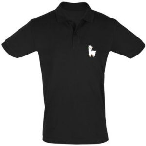 Men's Polo shirt Lamb with a sprig - PrintSalon