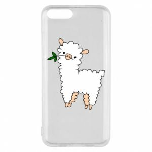 Phone case for Xiaomi Mi6 Lamb with a sprig - PrintSalon