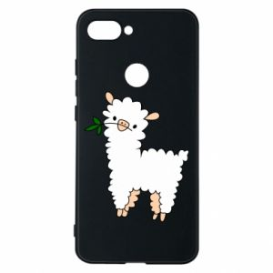 Phone case for Xiaomi Mi8 Lite Lamb with a sprig - PrintSalon
