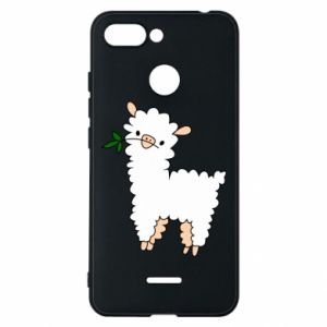 Phone case for Xiaomi Redmi 6 Lamb with a sprig - PrintSalon