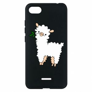Phone case for Xiaomi Redmi 6A Lamb with a sprig - PrintSalon