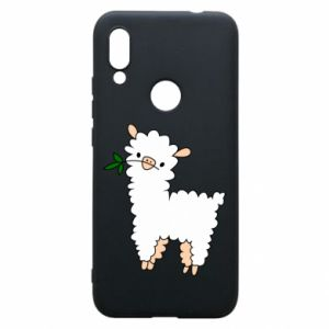 Phone case for Xiaomi Redmi 7 Lamb with a sprig - PrintSalon