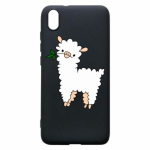 Phone case for Xiaomi Redmi 7A Lamb with a sprig - PrintSalon