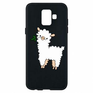 Etui na Samsung A6 2018 Lamb with a sprig