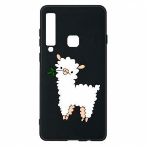Phone case for Samsung A9 2018 Lamb with a sprig - PrintSalon