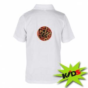 Dziecięca koszulka polo Lampart skóra - PrintSalon