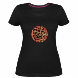 Damska premium koszulka Lampart skóra - PrintSalon