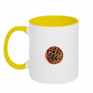 Two-toned mug Leopard skin