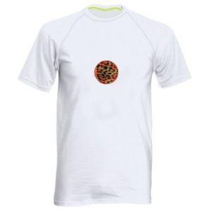 Męska koszulka sportowa Lampart skóra - PrintSalon