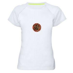 Damska koszulka sportowa Lampart skóra - PrintSalon