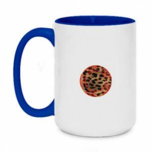 Two-toned mug 450ml Leopard skin