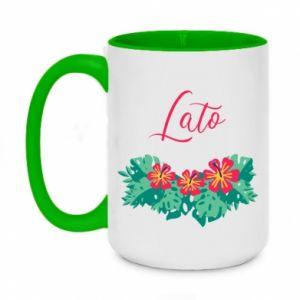 Two-toned mug 450ml Summer