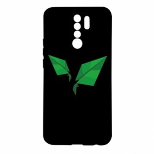 Etui na Xiaomi Redmi 9 Leaves abstraction