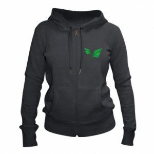 Women's zip up hoodies Leaves abstraction - PrintSalon