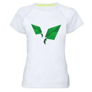 Women's sports t-shirt Leaves abstraction - PrintSalon