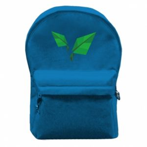 Backpack with front pocket Leaves abstraction - PrintSalon