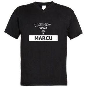 Męska koszulka V-neck Legendy rodzą się w marcu