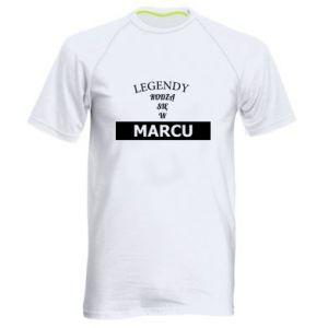 Męska koszulka sportowa Legendy rodzą się w marcu