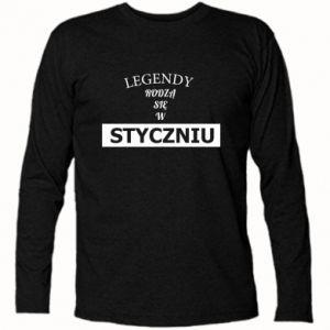 Koszulka z długim rękawem Legendy rodzą się w styczniu