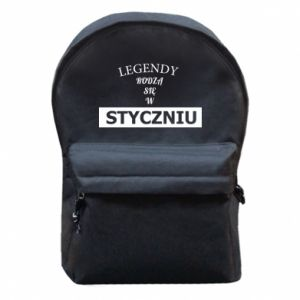 Backpack with front pocket Legends are born in January