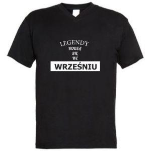 Męska koszulka V-neck Legendy rodzą się we wrześniu