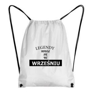 Plecak-worek Legendy rodzą się we wrześniu