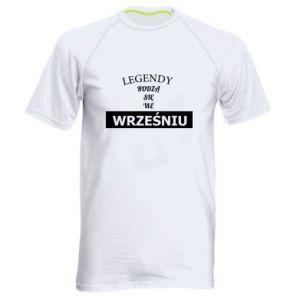 Męska koszulka sportowa Legendy rodzą się we wrześniu