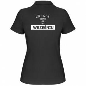 Damska koszulka polo Legendy rodzą się we wrześniu