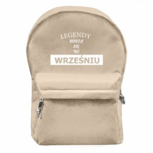 Plecak z przednią kieszenią Legendy rodzą się we wrześniu