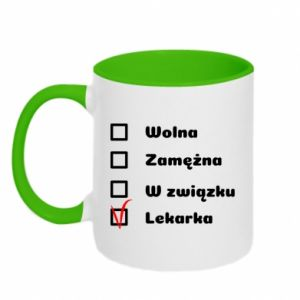 Two-toned mug Doctor - woman - PrintSalon