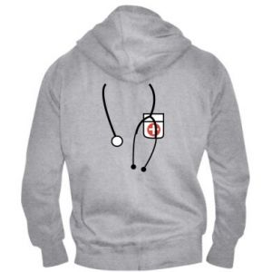 Men's zip up hoodie Doctor - PrintSalon