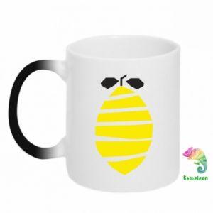 Kubek-magiczny Lemon stripes
