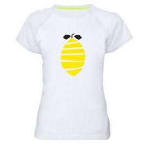 Koszulka sportowa damska Lemon stripes